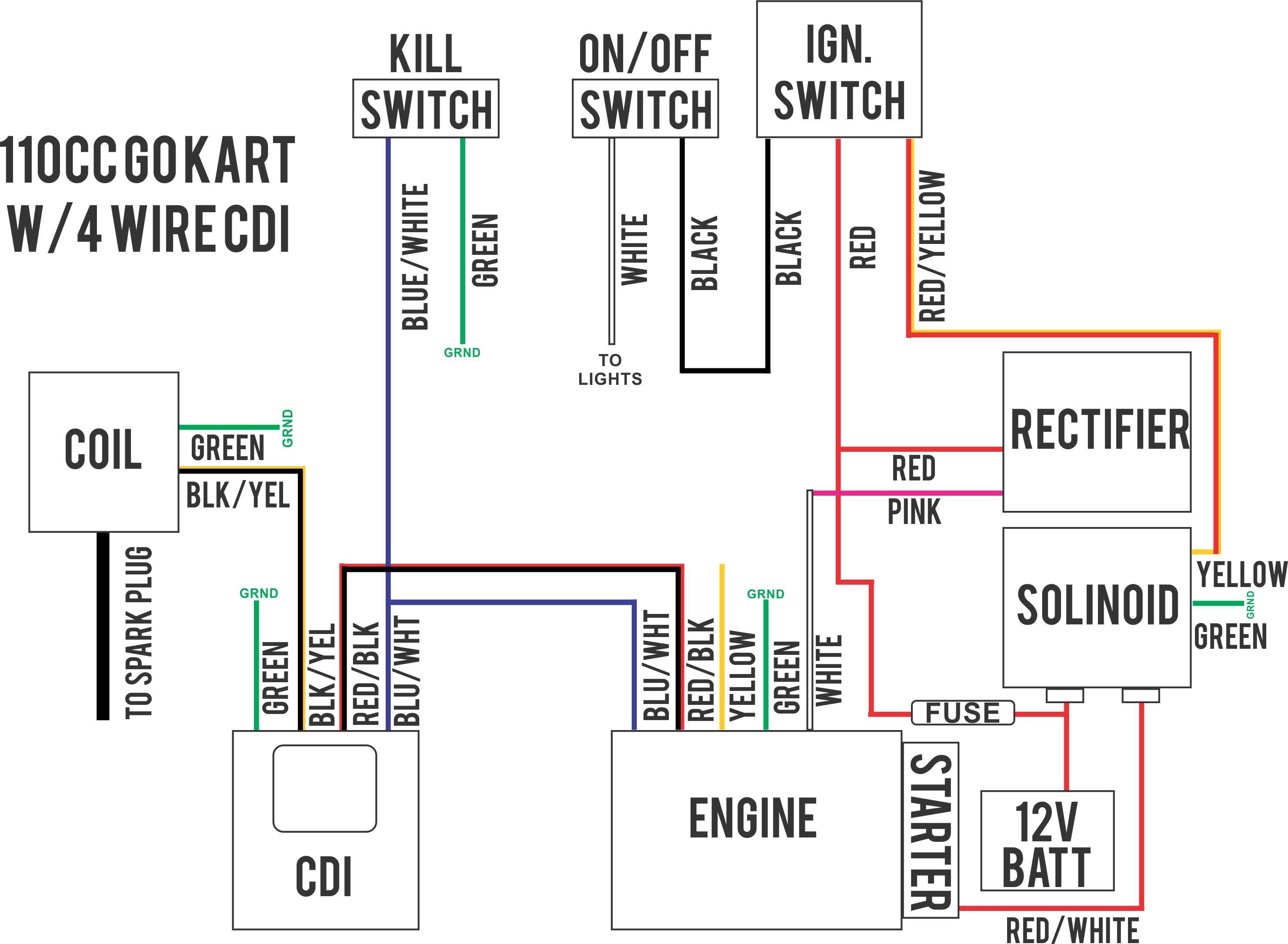 110 Pit Bike Wiring Diagram
