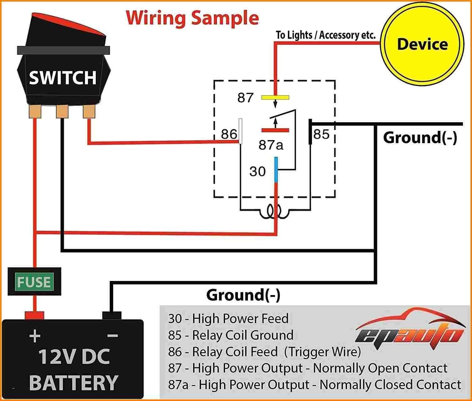 Diagram 5 Pin 12v Relay Connection