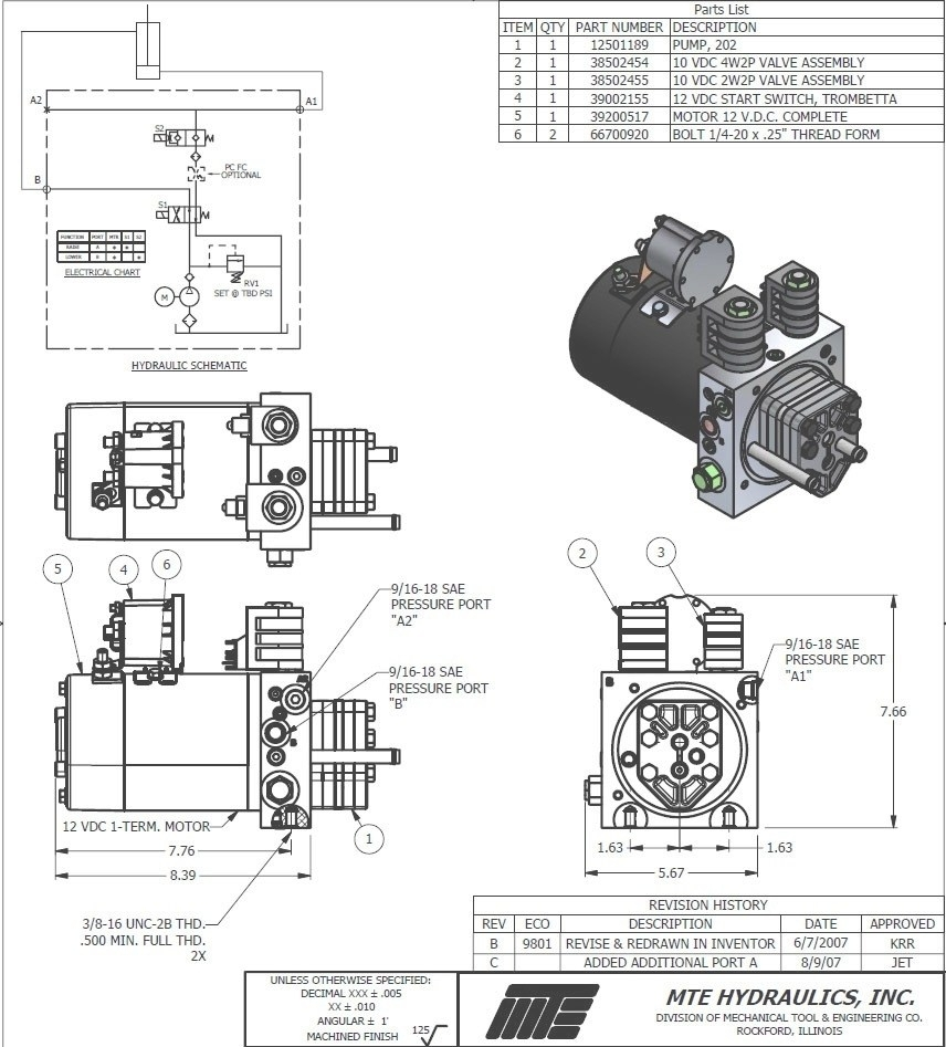 12v Hydraulic Pump Wiring Diagram Free Wiring Diagram