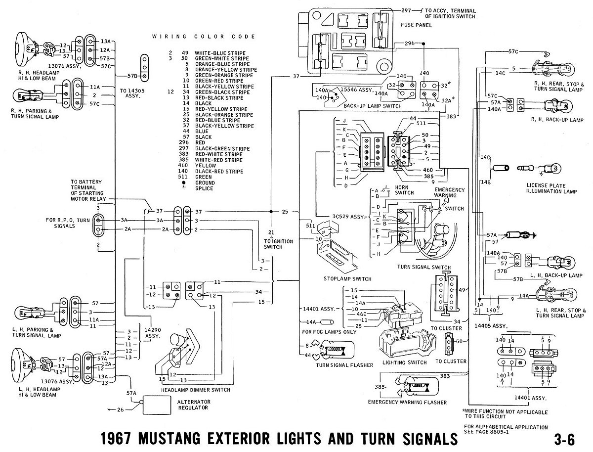 1967 Mustang Wiring Diagram - 1967 Mustang Wiring and Vacuum Diagrams Average Joe Restoration Throughout 67 Diagram 14k