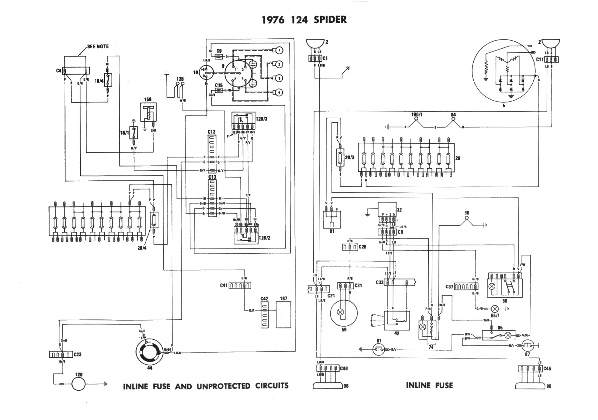1975 Fiat 124 Spider Wiring Diagram Free Wiring Diagram