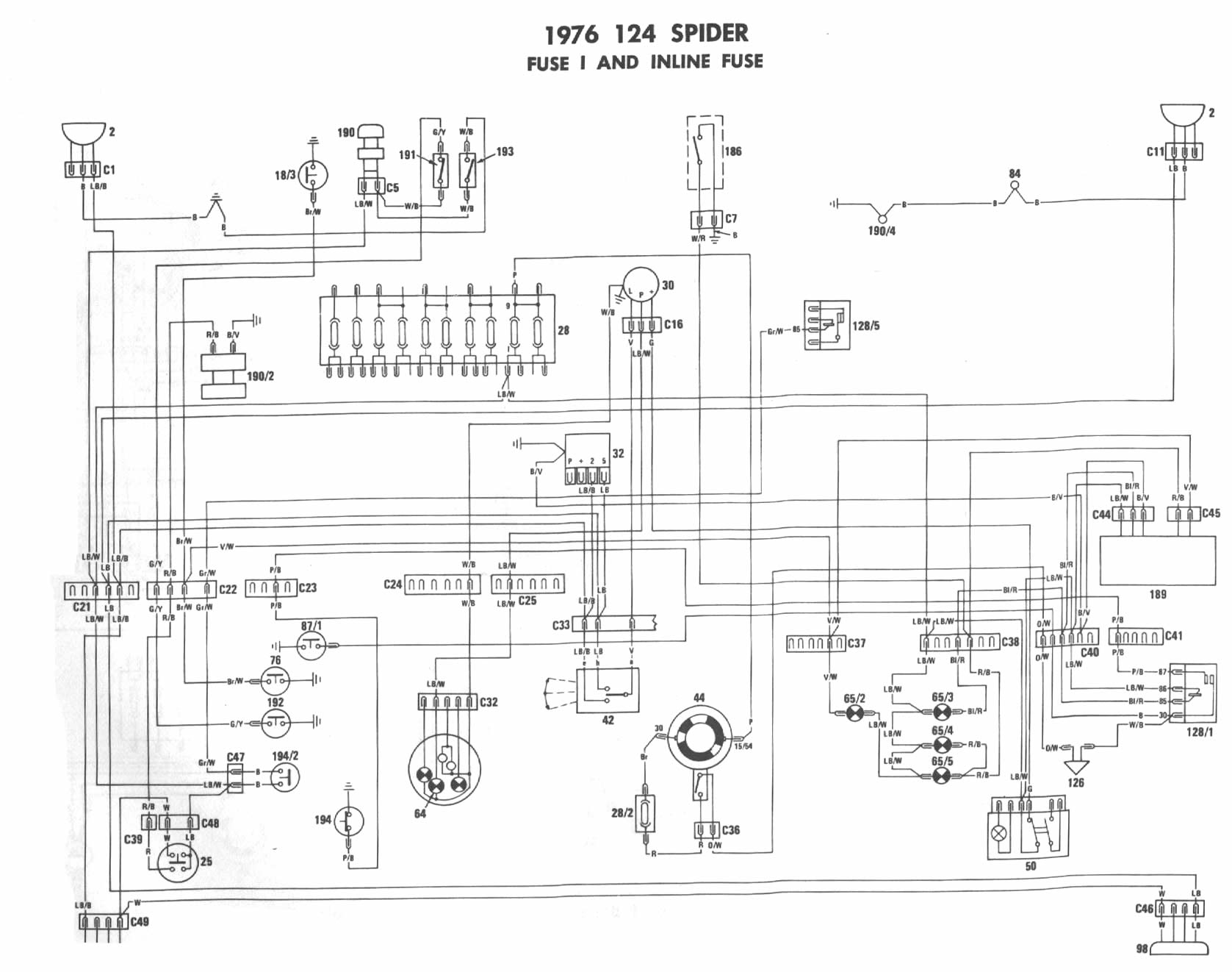 1975 fiat 124 spider wiring diagram Download-Fiat 124 Wiring Diagram Collection 1975 Fiat Wiring Diagram Starter Wiring Diagram 1975 Corvette Wiring 18-b