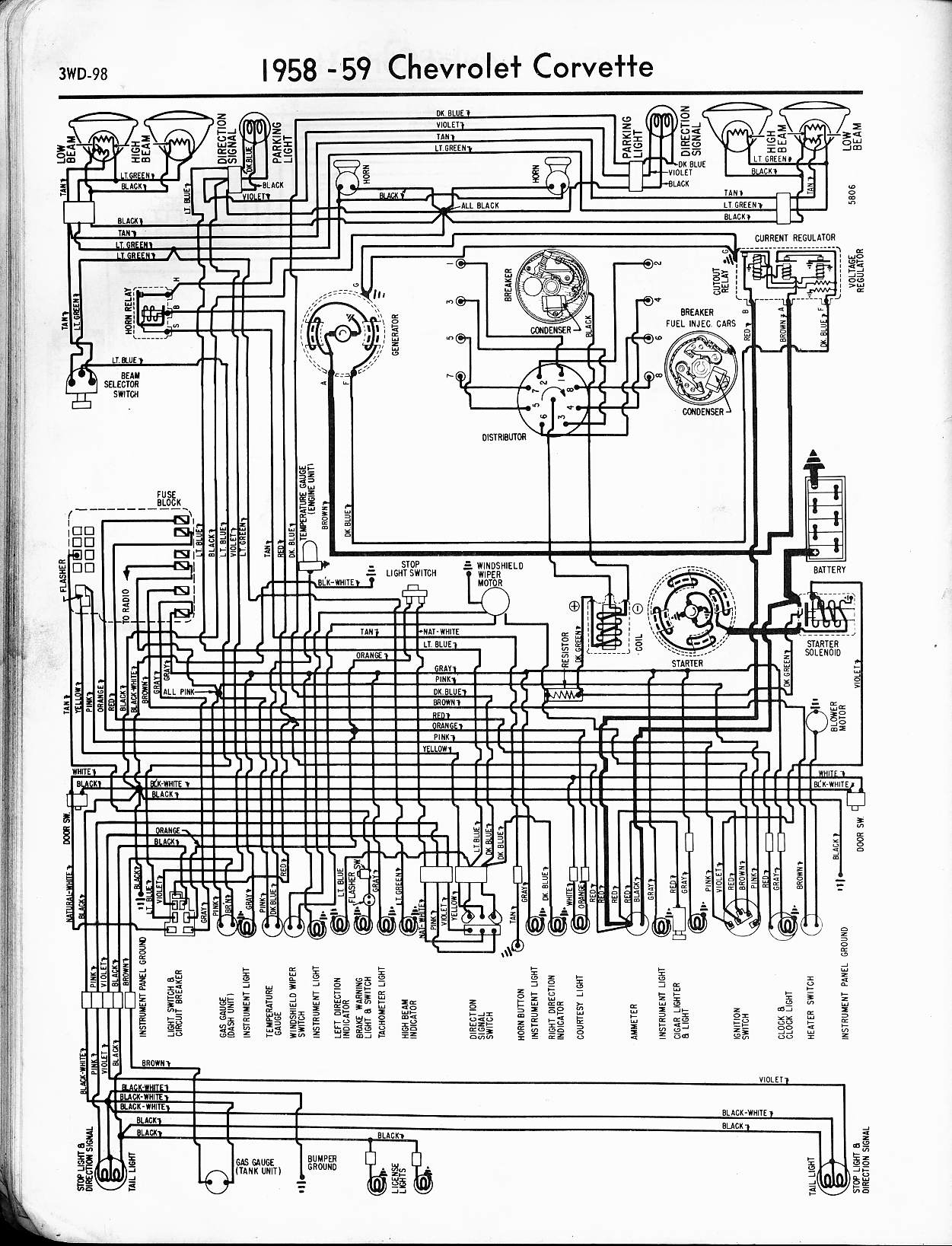 1979 chevy truck wiring schematic Download-1958 Corvette 18-n