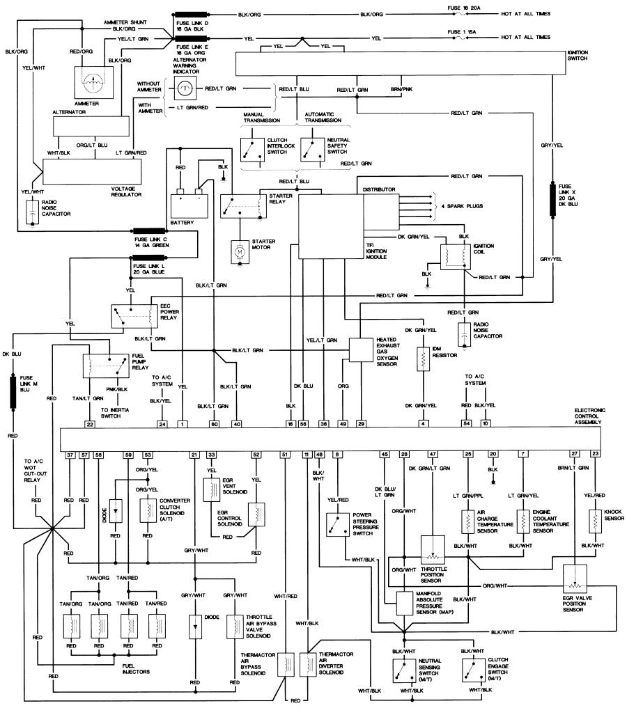 1987 Ford Wiring Diagram