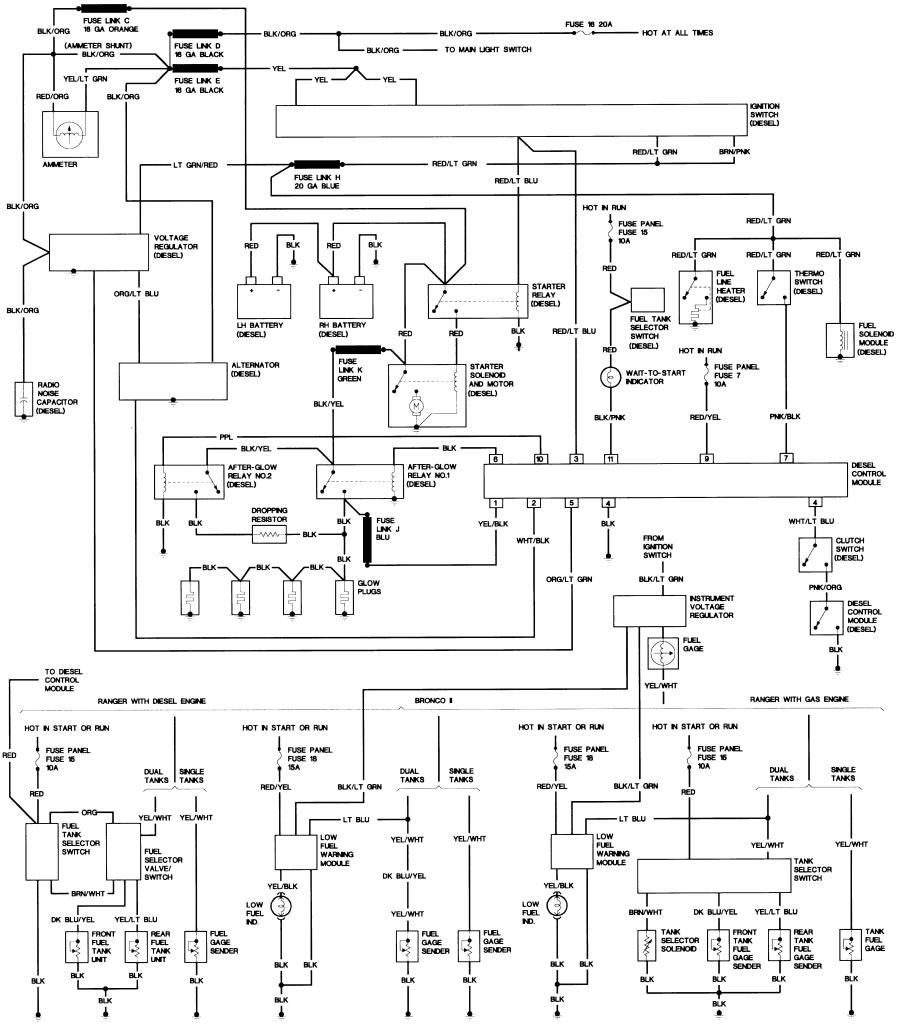 1988 ford f150 radio wiring diagram Download-Bronco II Wiring Diagrams 16-d