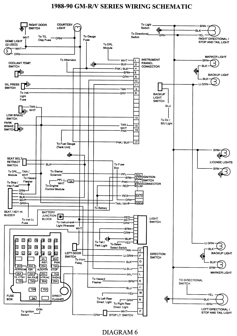 1990 Chevy Silverado Radio Wiring Diagram