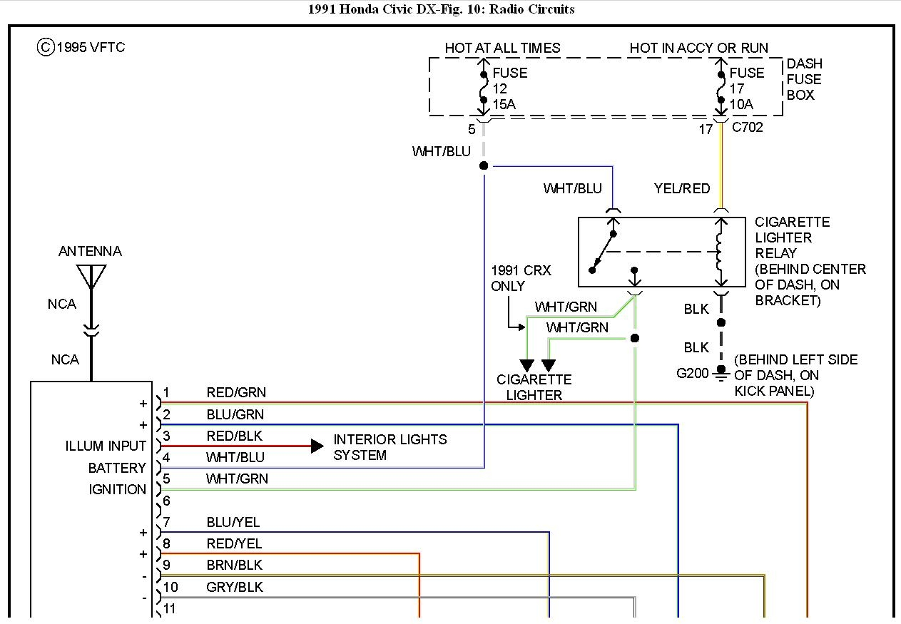 wiring diagram for 1991 honda crx
