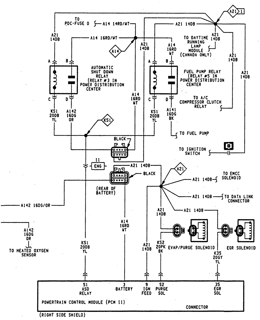 Main Wiring Harness Diagram 1998 Dodge Dakota