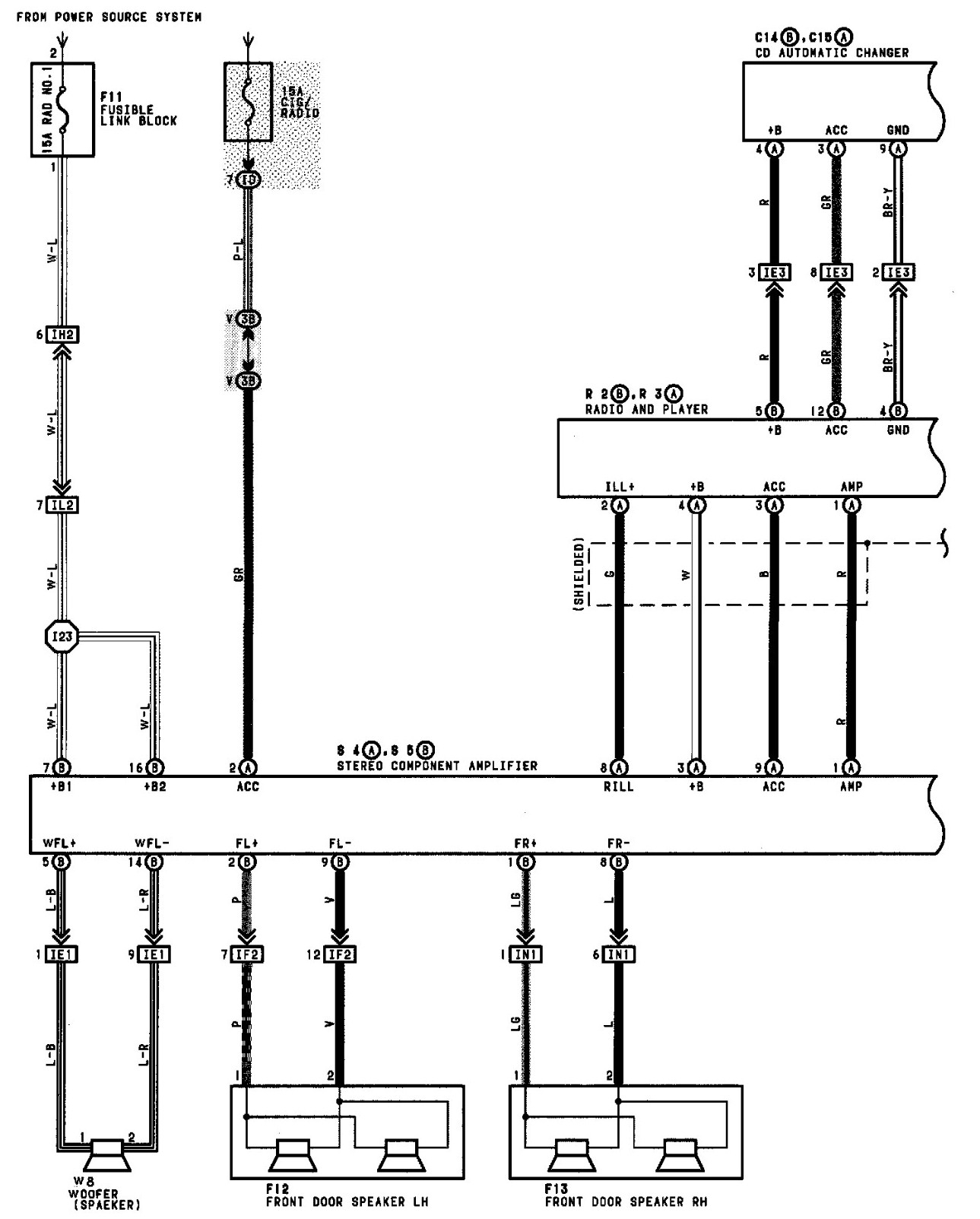 1997 toyota camry radio wiring diagram free wiring diagram