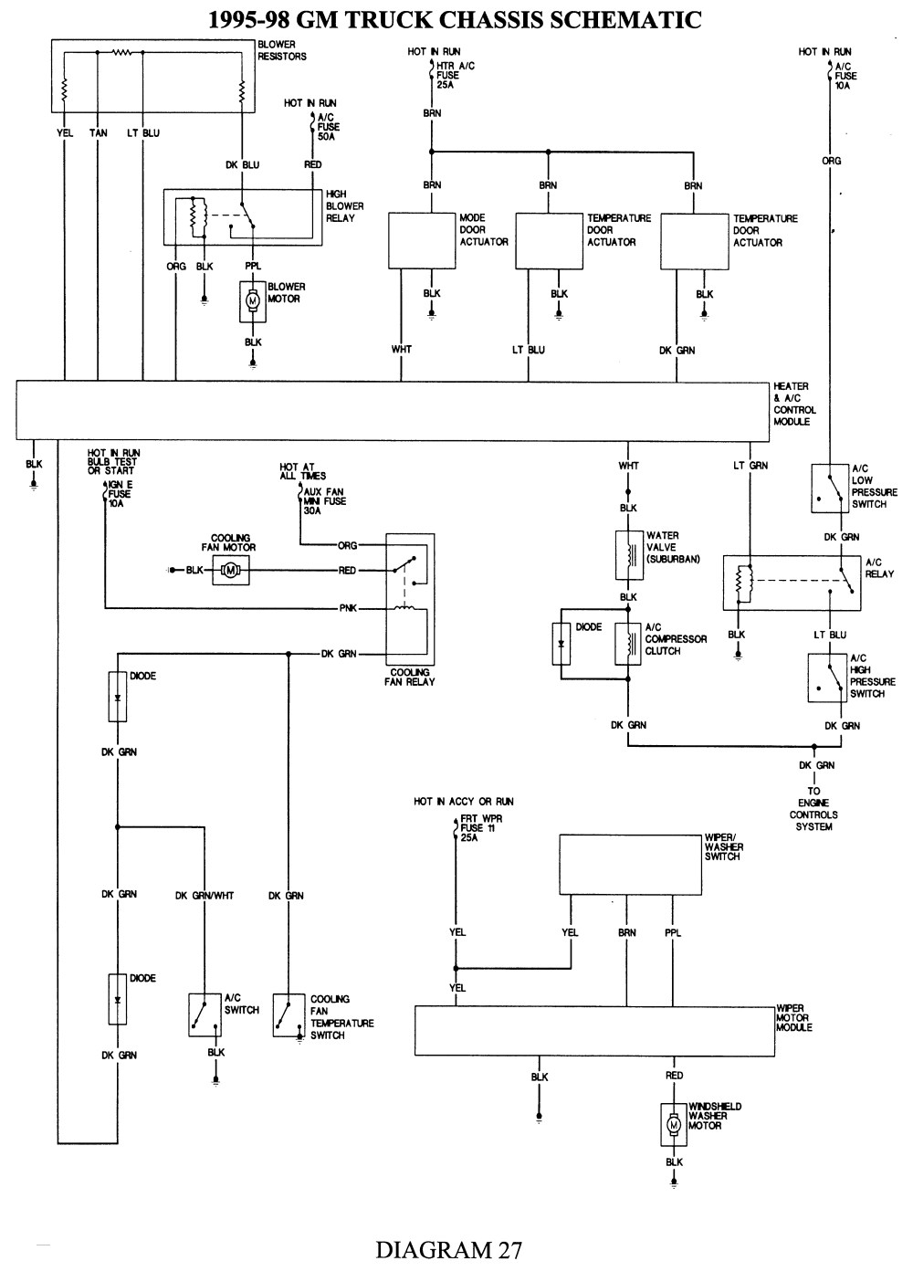 1998 Chevy Tahoe Wiring Diagram - Power Diagram Free Download 1998 Chevy Tahoe Wiring Diagram Wiring Diagram 6t