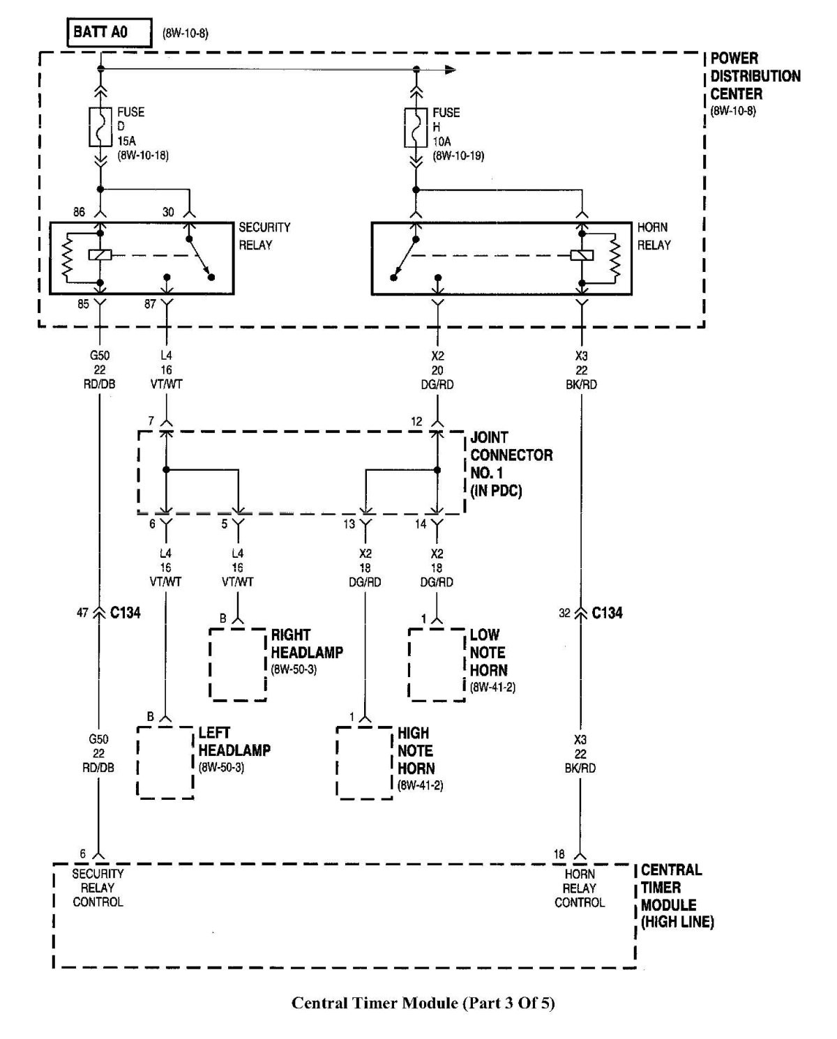 97 Dodge Ram 1500 Headlight Wiring Diagram