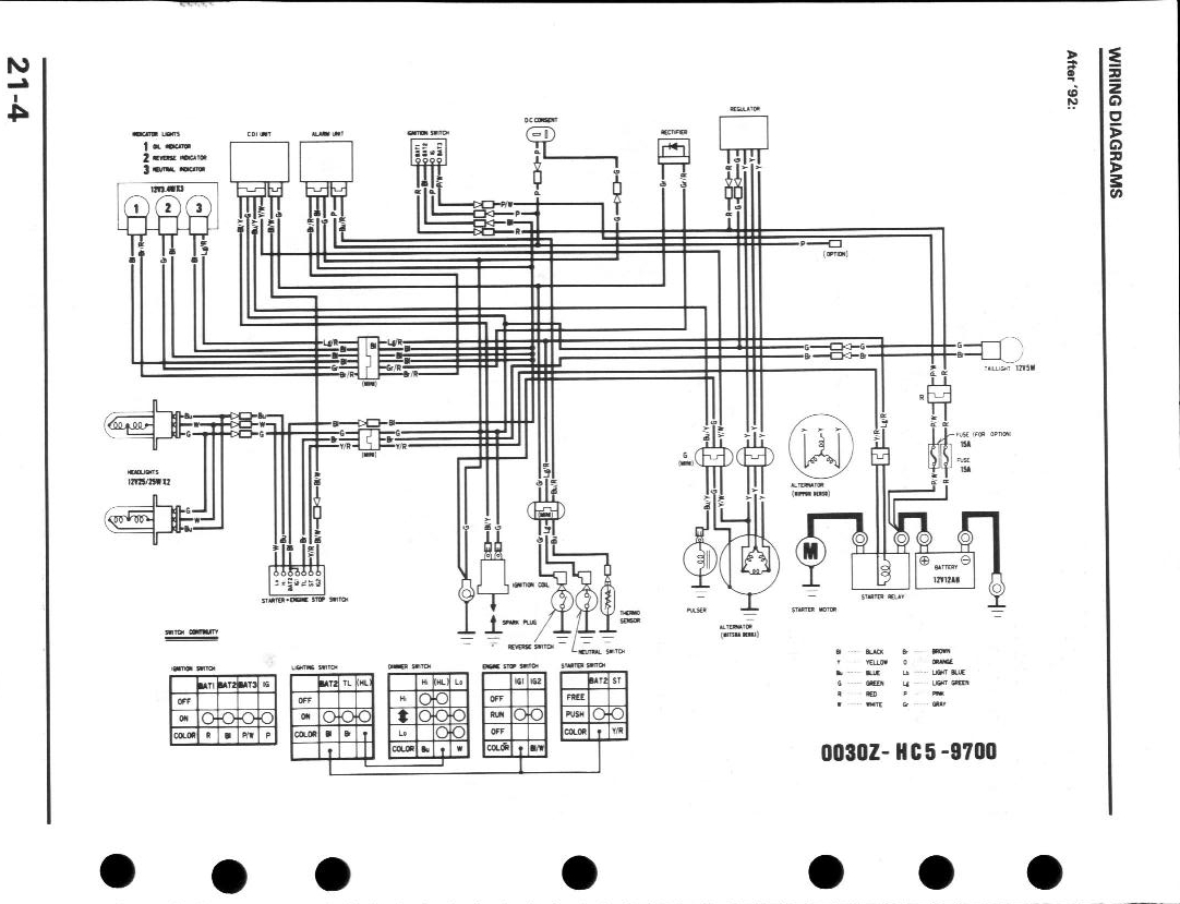 1998 Honda Fourtrax 300 Wiring Diagram | Free Wiring Diagram