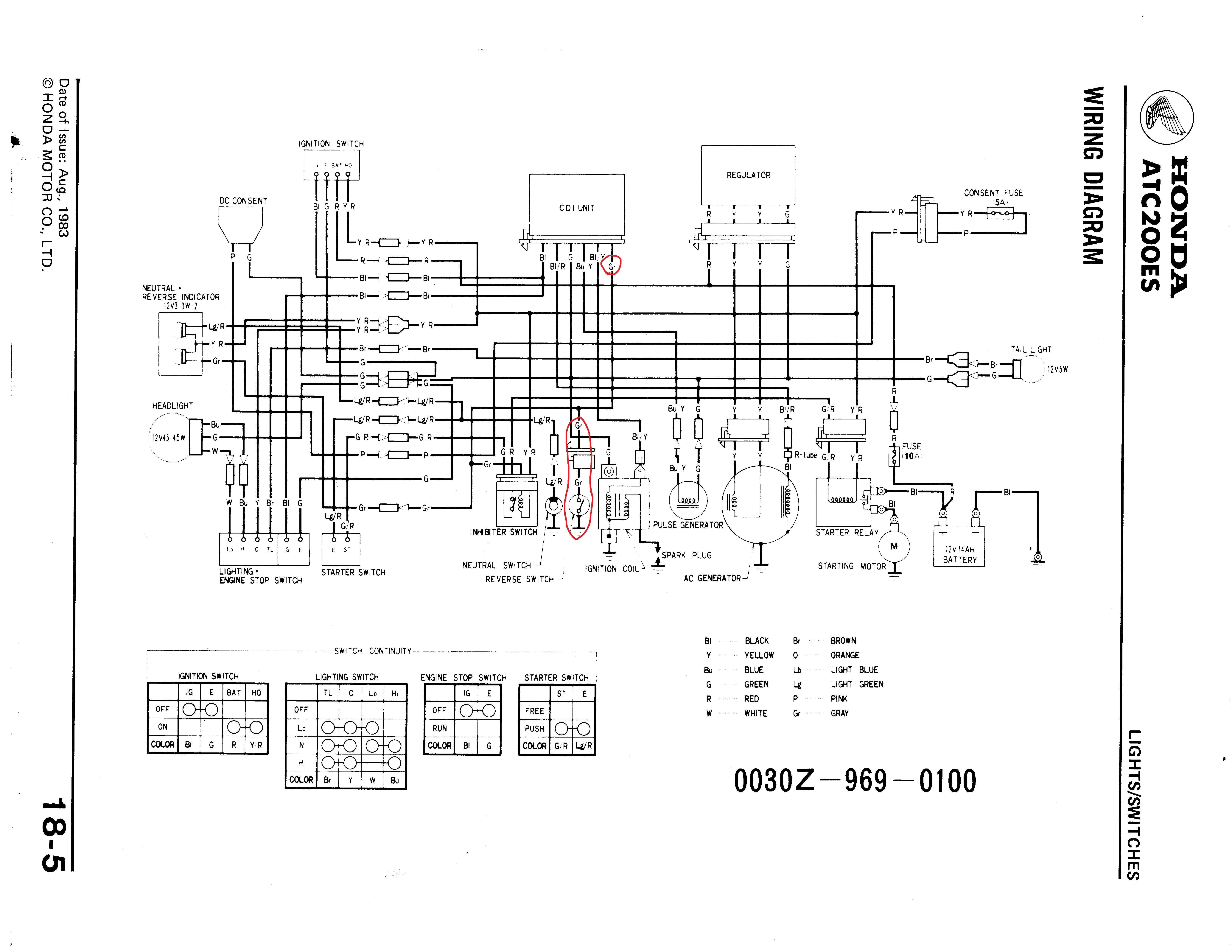 1998 honda fourtrax 300 wiring diagram