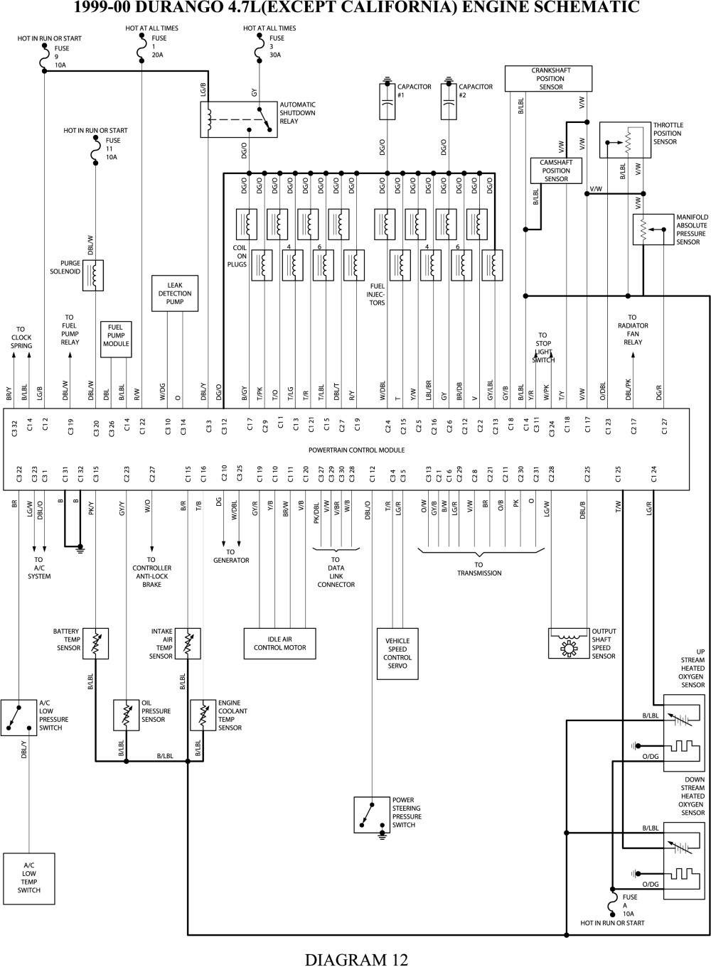 1999 Dodge Durango Wiring Diagram