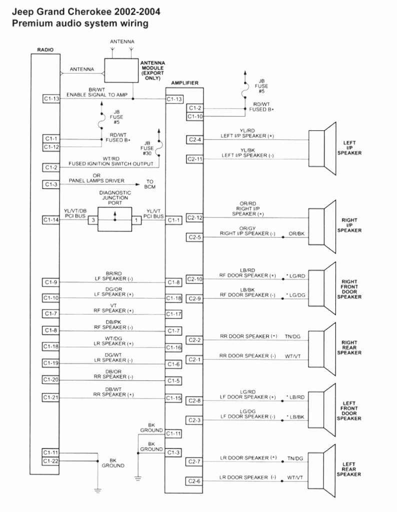 1999 Jeep Grand Cherokee Radio Wiring Diagram