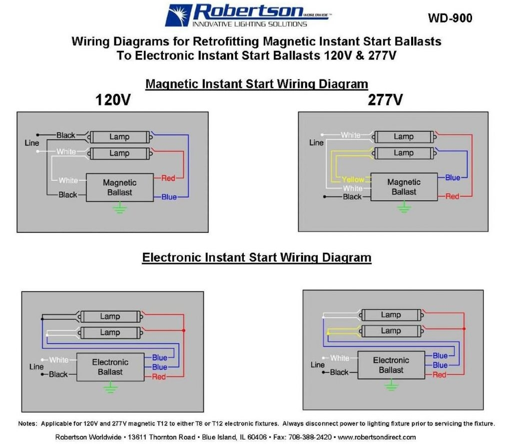 2 Lamp T8 Ballast Wiring Diagram