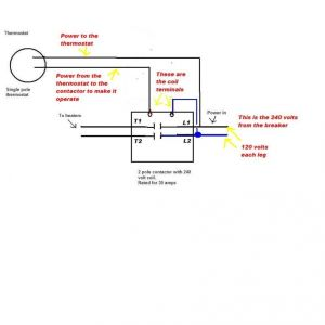 2 Pole Contactor Wiring Diagram - 2 Pole Contactor Wiring Diagram 6 Inside 4 240 Volt 5 14g