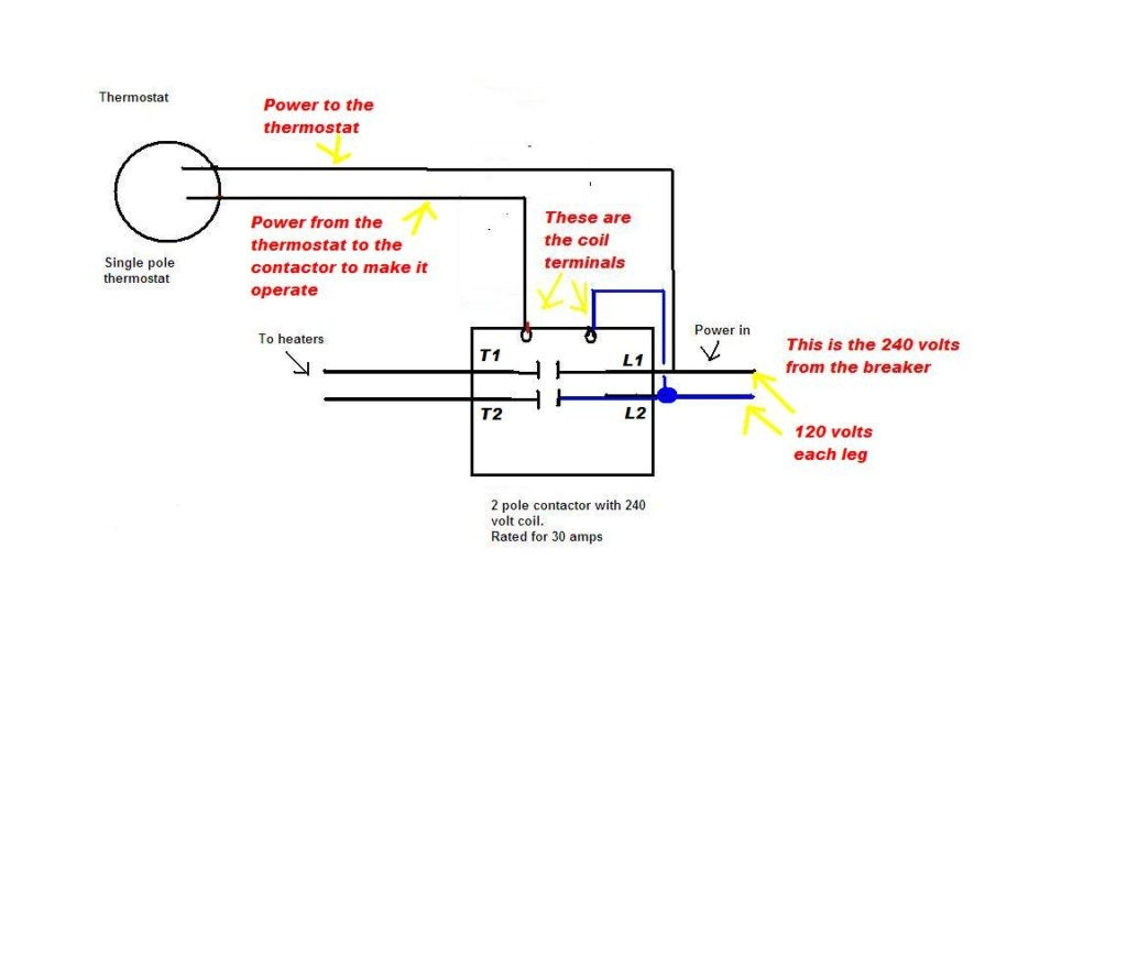 2 pole contactor wiring diagram free wiring diagram. Black Bedroom Furniture Sets. Home Design Ideas