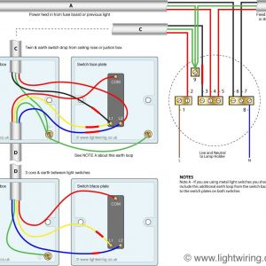 2 Way Switch Wiring Diagram - Two Way Switching Using A 3 Wire Control Shown In the Old Cable Colours 9e