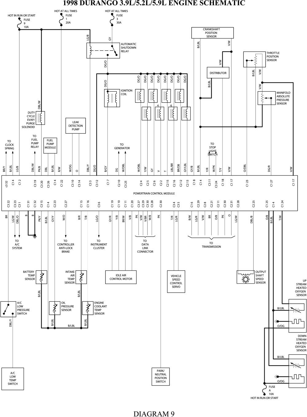 2000 Dodge Durango Radio Wiring Diagram