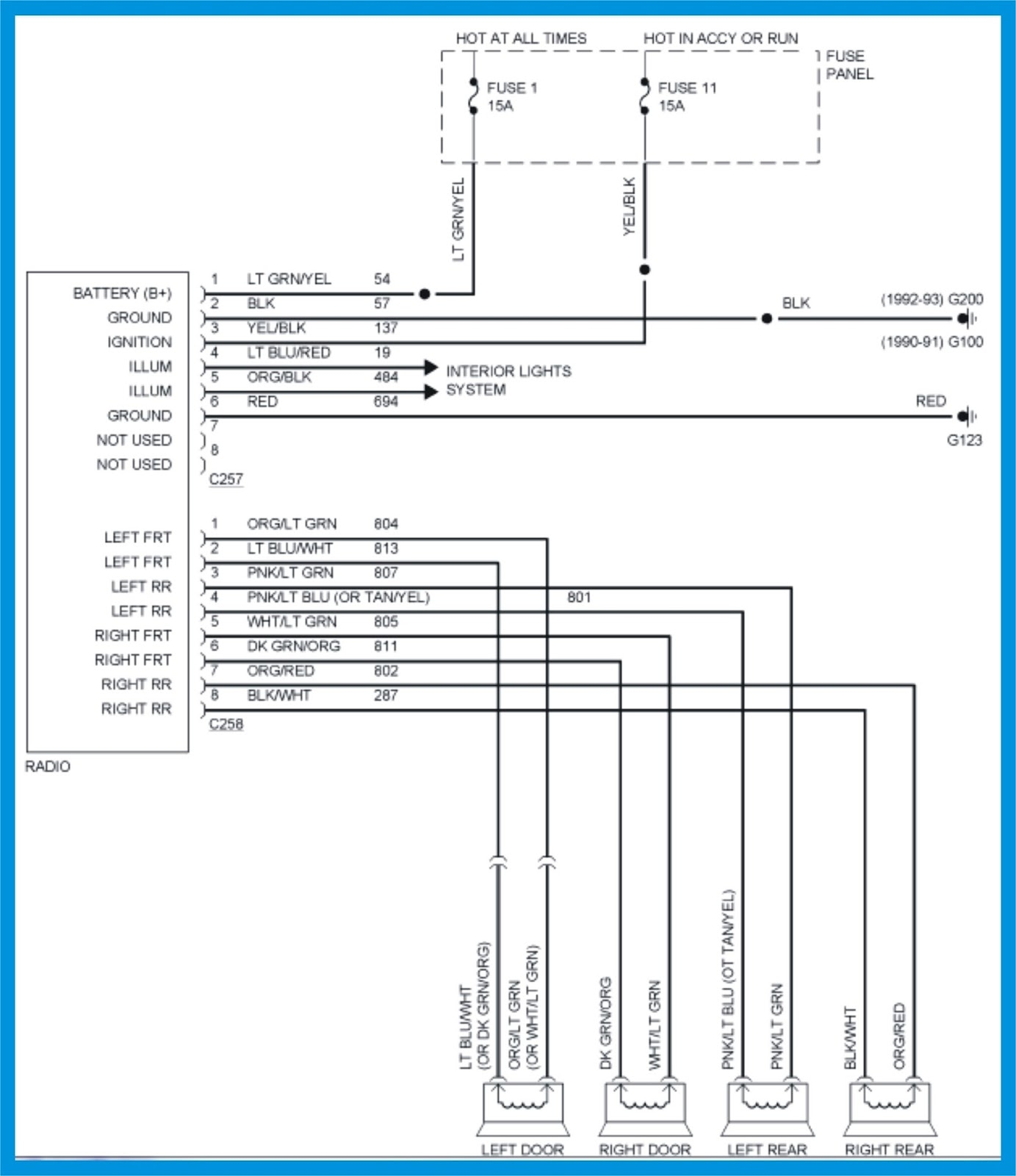 2004 ford explorer stereo wiring diagram 2000 ford explorer radio wiring diagram | free wiring diagram