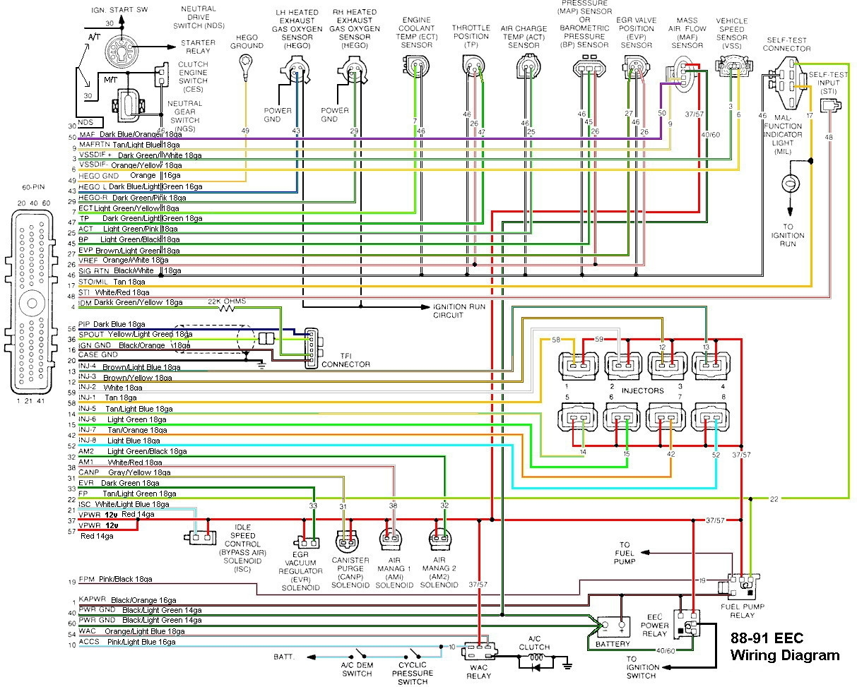 2000 Ford Mustang Wiring Diagram