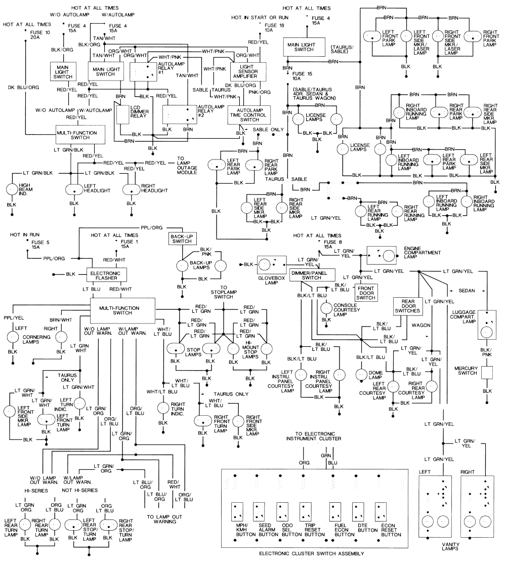 2000 Ford Taurus Wiring Diagram