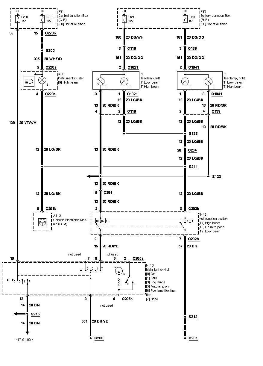 2000 Ford Taurus Wiring Diagram