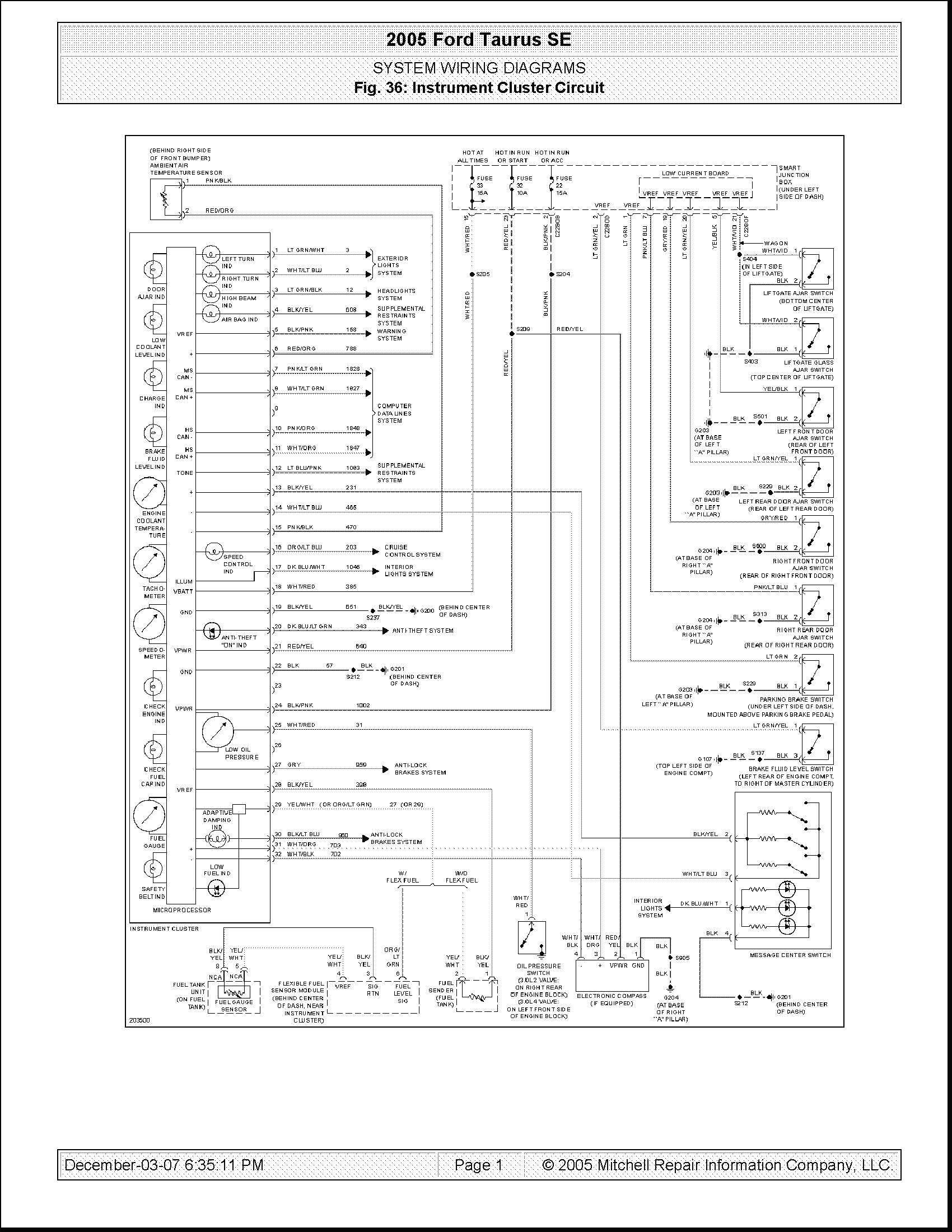 2003 Ford Wiring Schematic - Wiring Diagrams A Light For Ford Taurus Wiring Diagram on