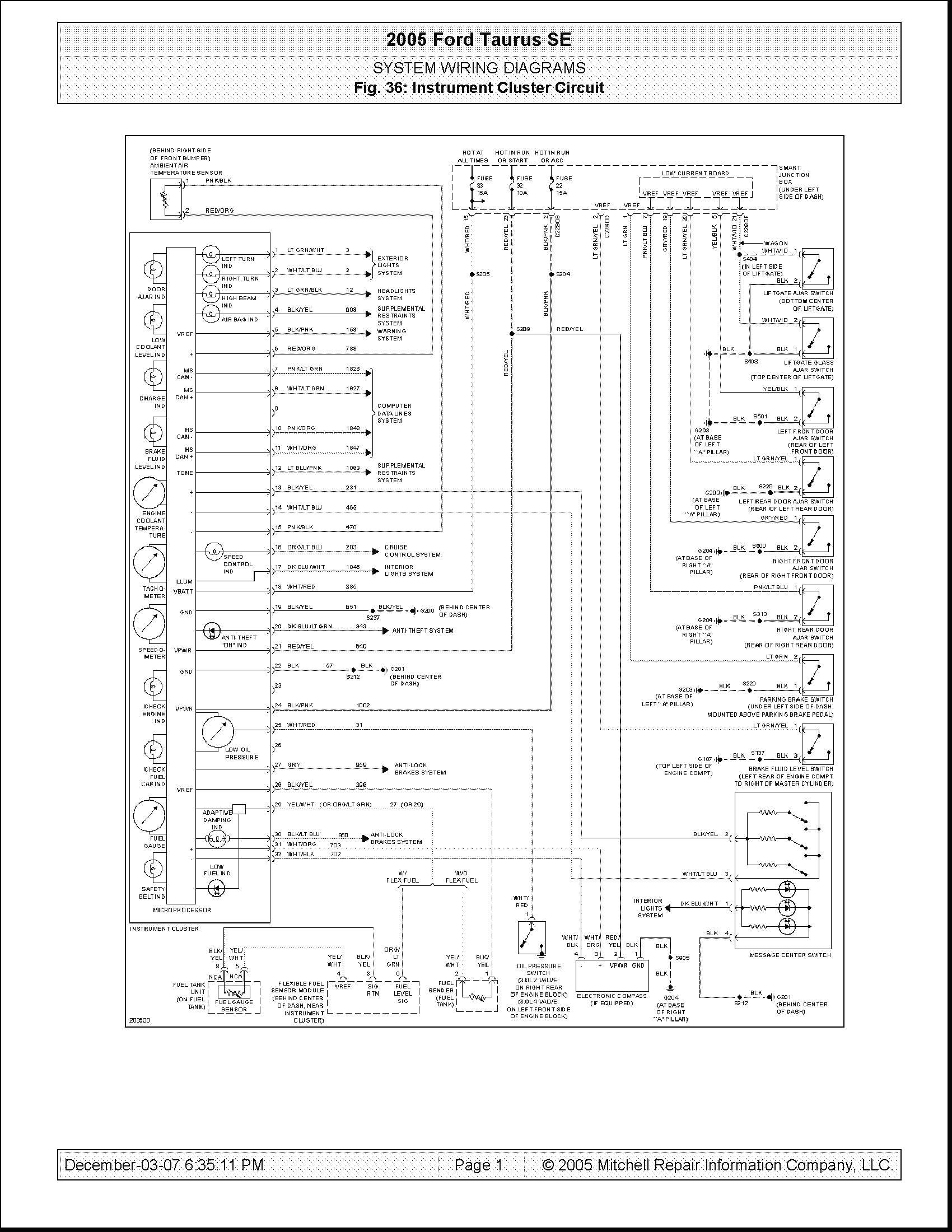 2000 Ford Taurus Wiring Schematic
