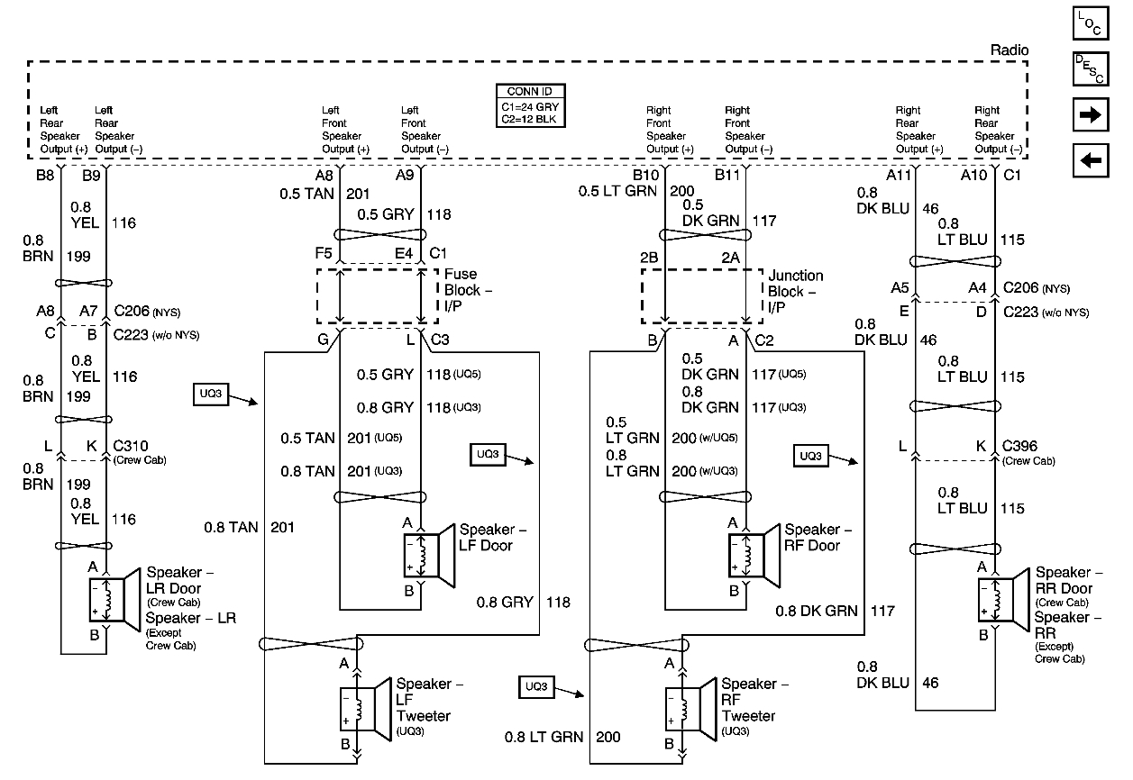 2000 Gmc Sierra Stereo Wiring Diagram
