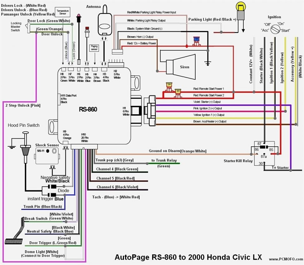2000 Honda Accord Radio Wiring Diagram | Free Wiring Diagram
