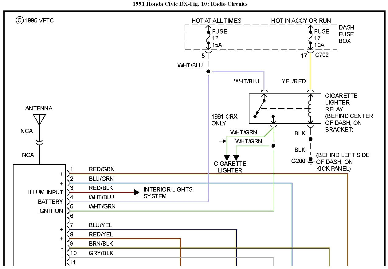 2000 Honda Civic Radio Wiring Diagram