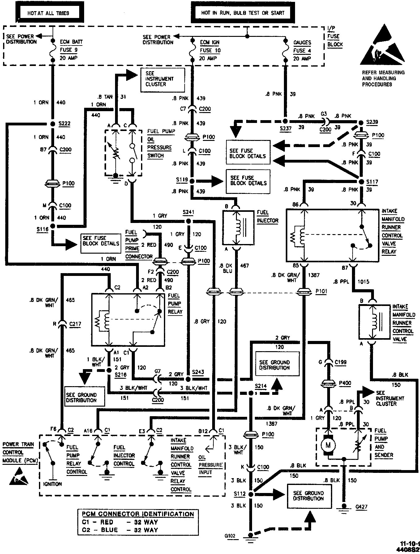 2001 Chevy Blazer Fuel Pump Wiring Diagram
