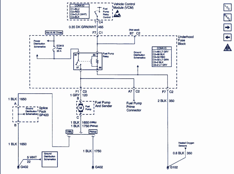 2001 Chevy Blazer Fuel Pump Wiring Diagram
