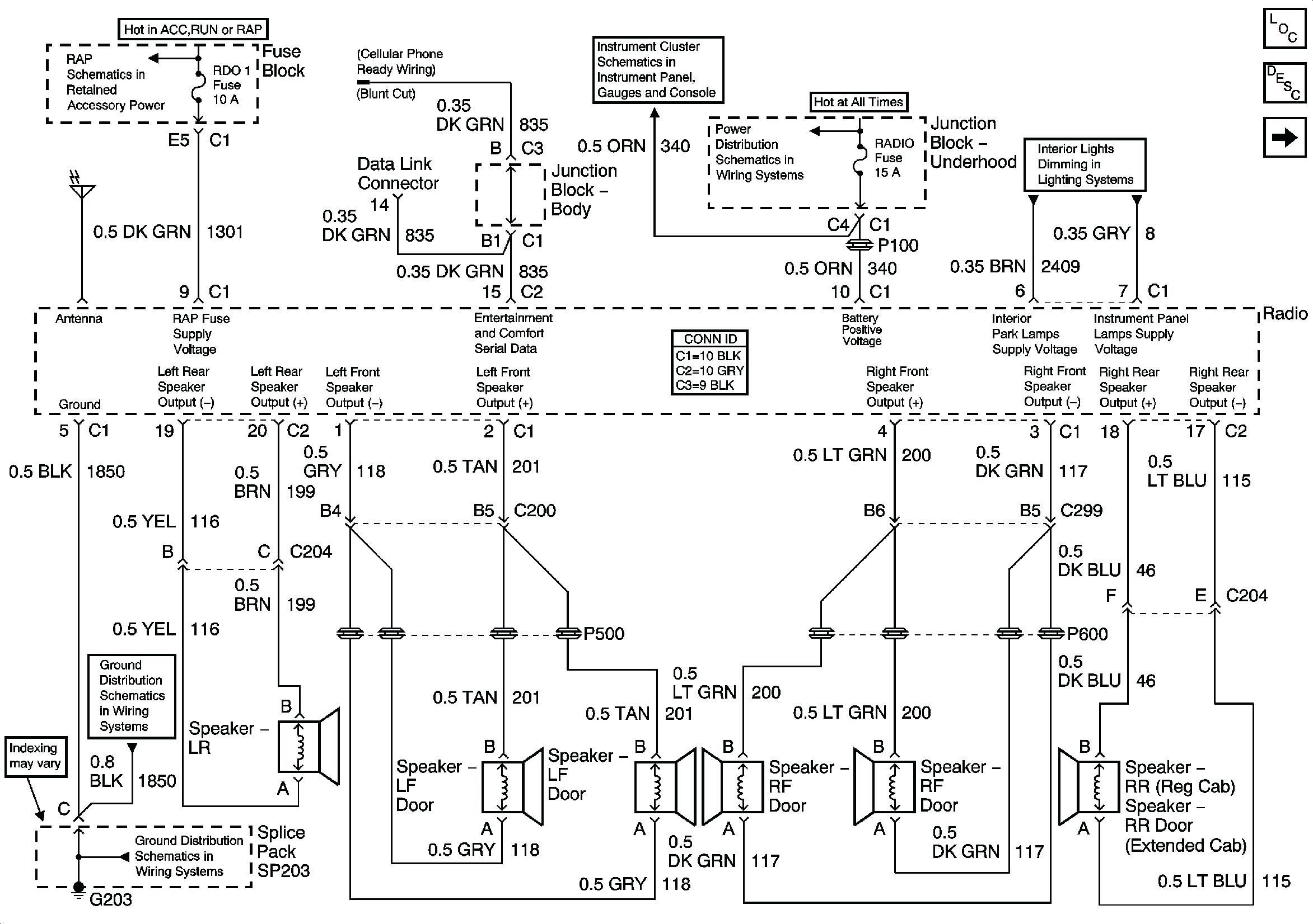 2001 chevy suburban radio wiring diagram