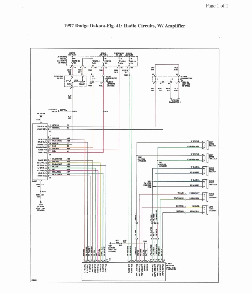 2001 Dodge Durango Radio Wiring Diagram Free Terminals 2000 Dakota Unique
