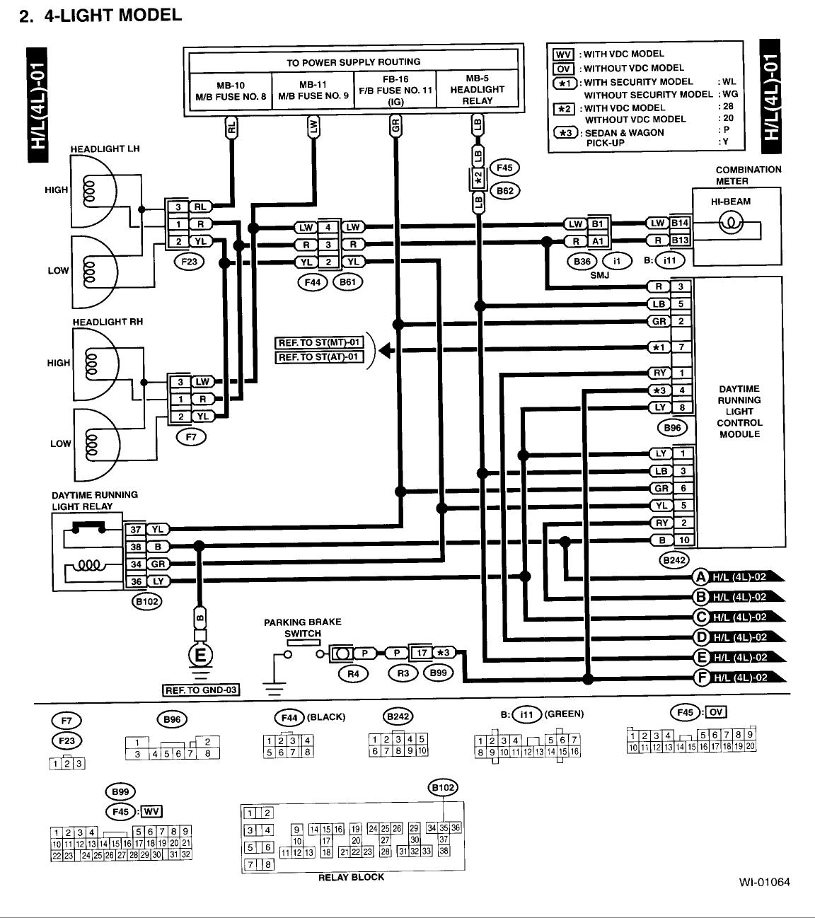 2001 subaru outback radio wiring diagram