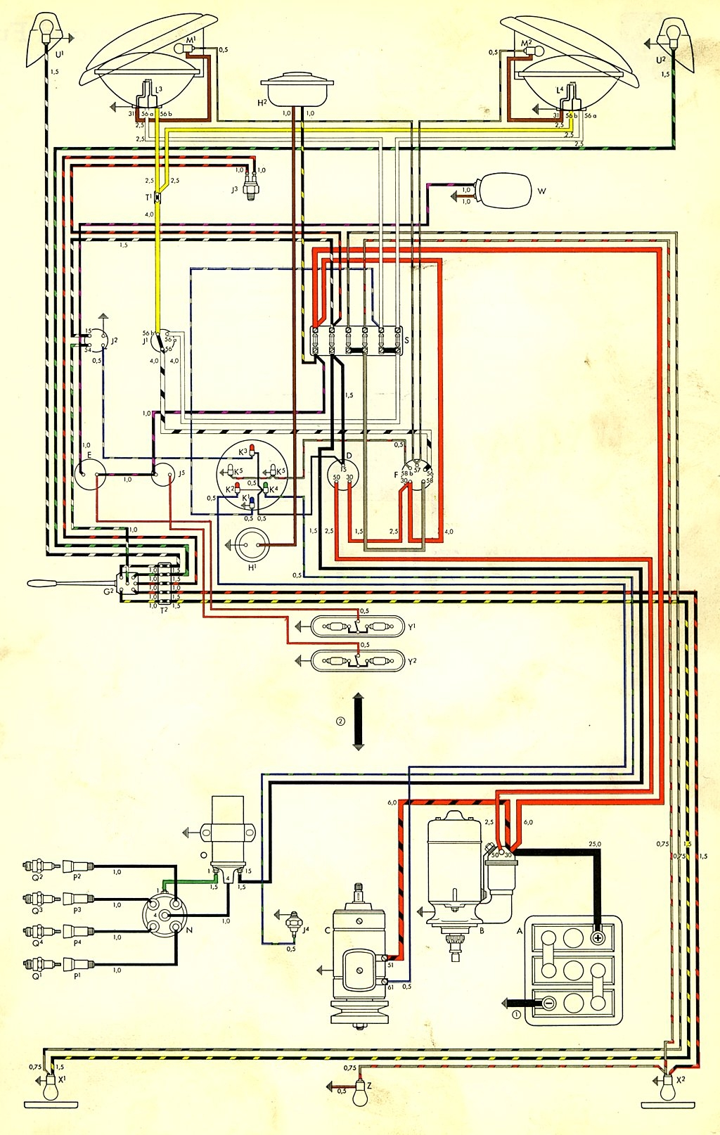 2001 vw beetle wiring diagram Collection-bus 59 USA 8-f