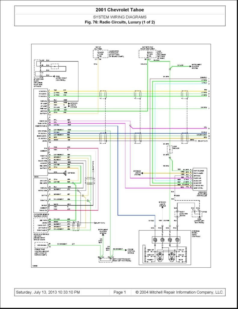 2003 Chevy Tahoe Radio Wiring Diagram