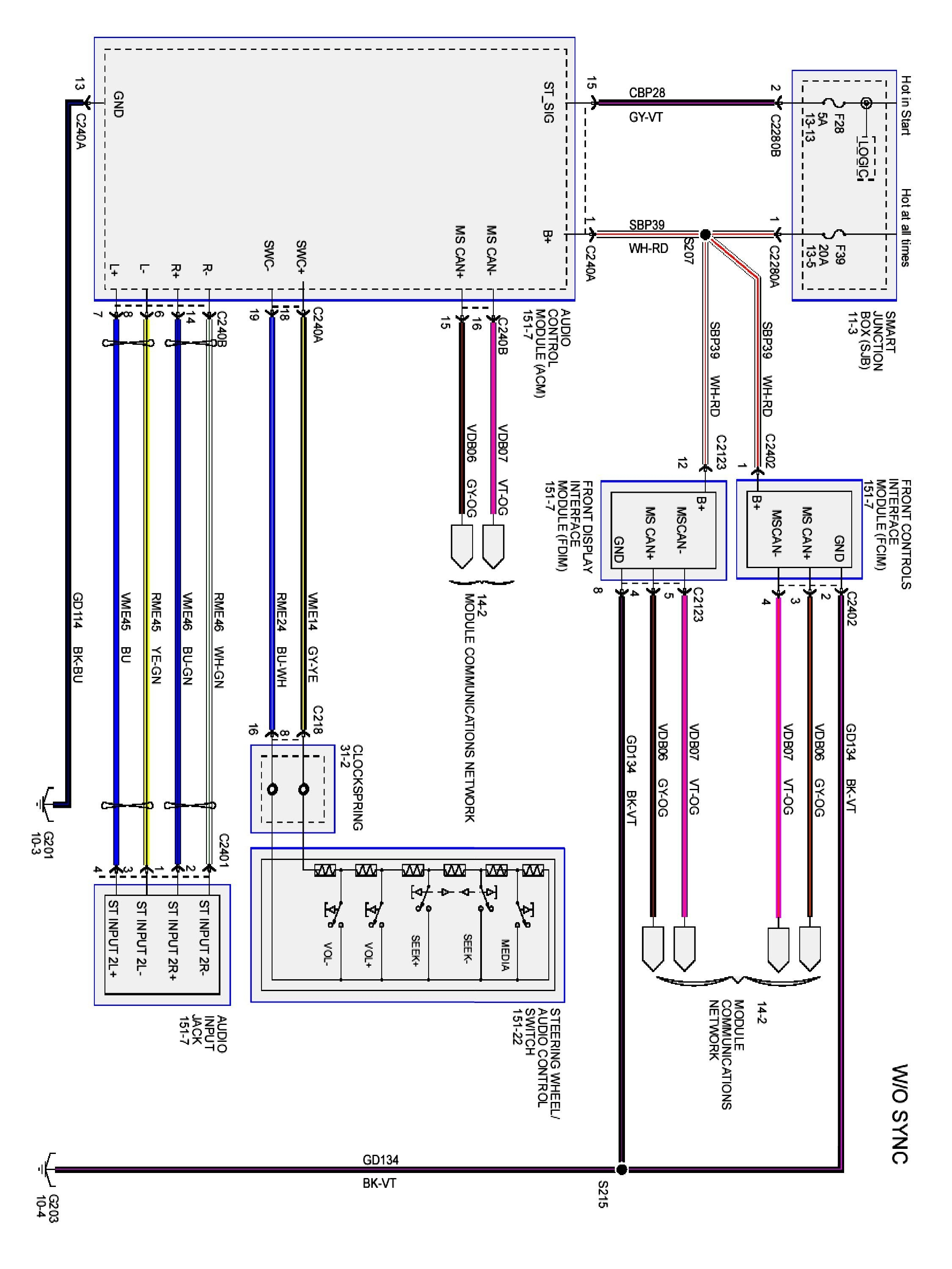 Radio Wiring Diagram For Ford Explorer on