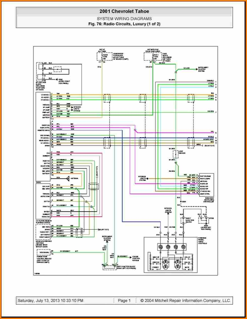 DIAGRAM] Wiring Diagram Gmc Sierra Radio FULL Version HD Quality ... 2001 chevy tahoe factory amp location Diagram Database