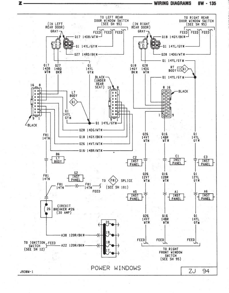 2003 jeep grand cherokee radio wiring diagram - 2002 grand cherokee wiring  diagram wiring diagrams u2022