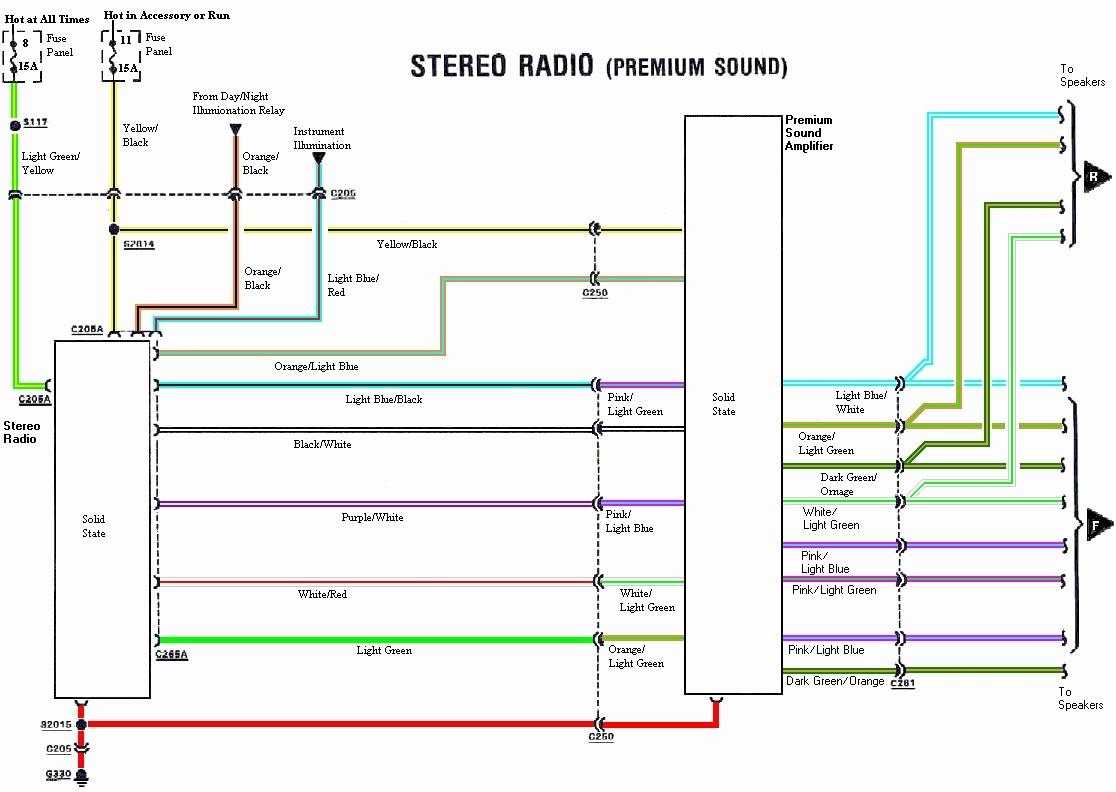 2003 mustang radio wiring diagram Collection-2003 Mustang Radio Wiring Diagram Full Size Wiring Diagram 2003 ford Explorer Radio Wiring 1-k