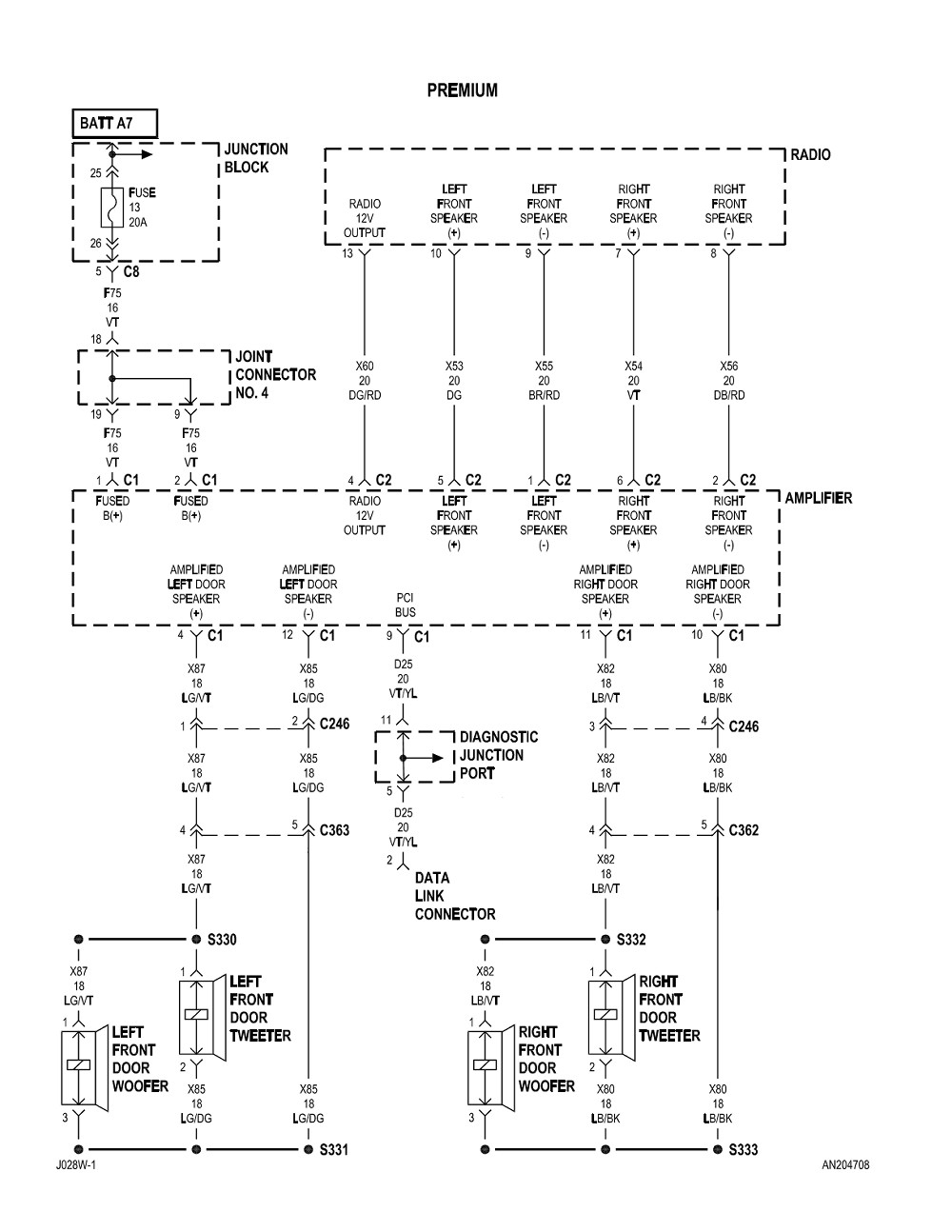 2000 Dodge Neon Stereo Wiring Diagram