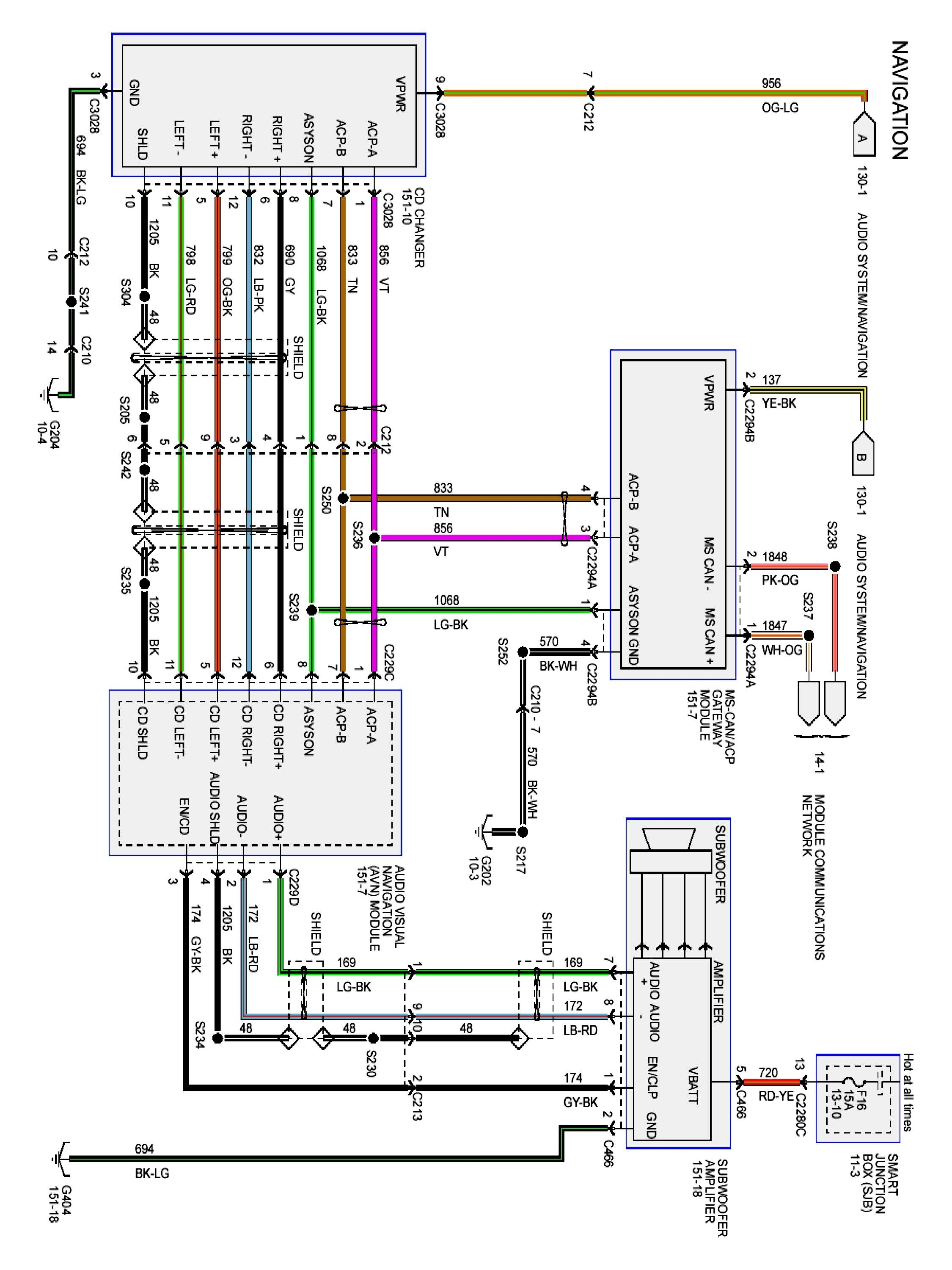 ford expedition radio wiring diagram  wiring