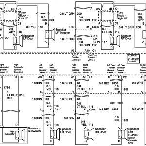 2004 silverado bose radio wiring diagram