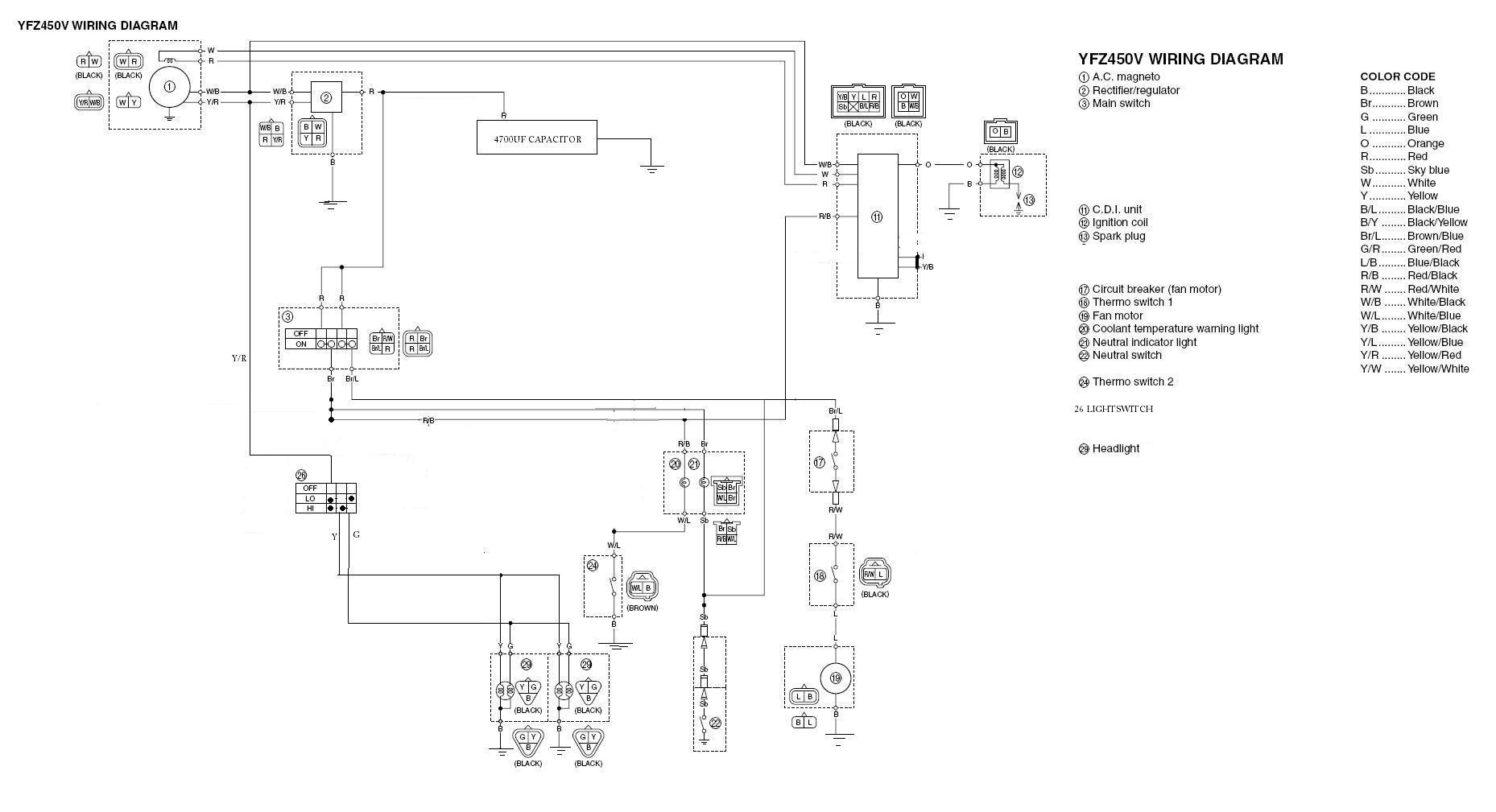 2004 yfz 450 wiring diagram Collection-Yamaha Yfz 450 Wiring 13-s