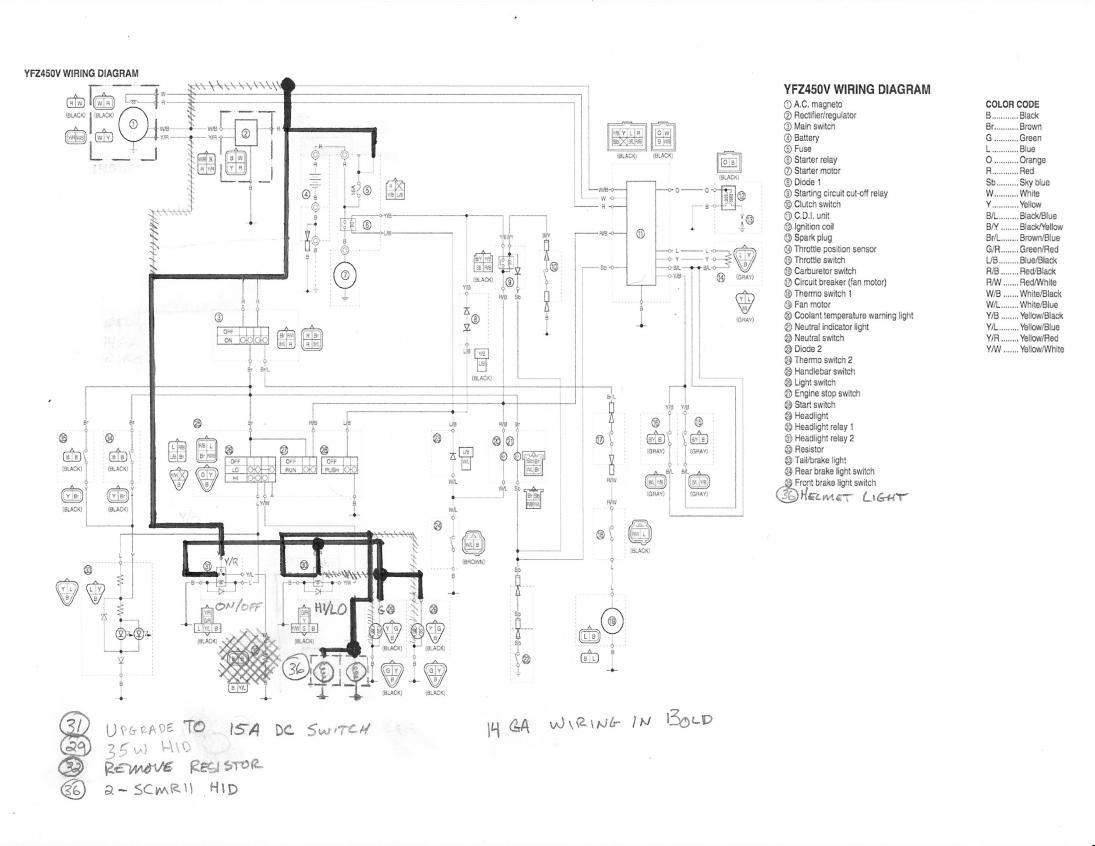 2004 yfz 450 wiring diagram free wiring diagram Yamaha Raptor 350 Wiring Diagram Yamaha Raptor 700 Wiring Diagram