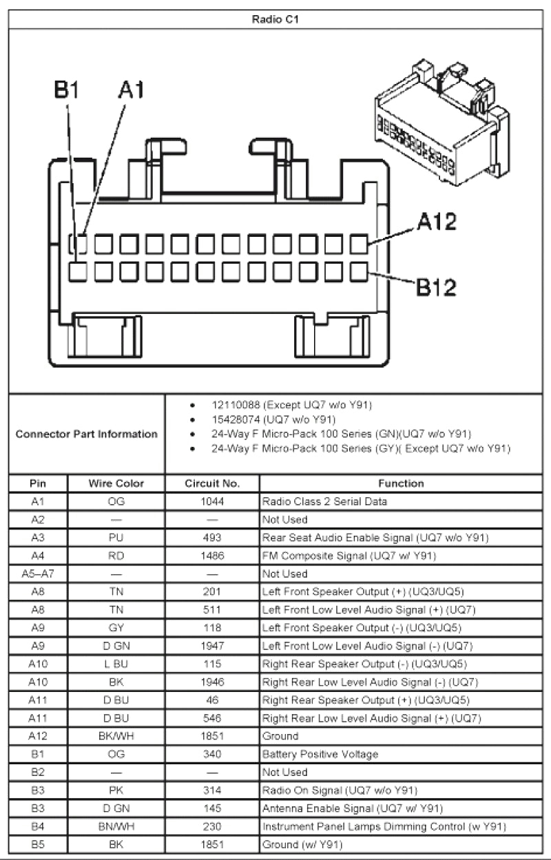 2005 Chevy Impala Radio Wiring Diagram - Awesome 2004 Chevy Impala Radio Wiring Diagram Ideas for Also 2005 Stereo Silverado 11c
